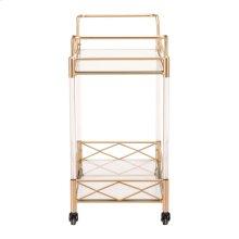 Lucite Bar Cart Gold