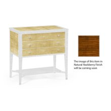 Ivory Shagreen Chest of Drawers with Brass