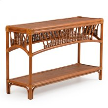 Rattan Console Table Pecan Glaze Satin 4414