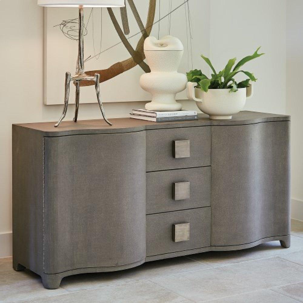 Toile Linen Credenza-Grey