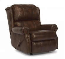 Comfort Zone Leather Rocking Recliner