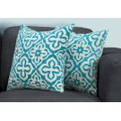 "PILLOW - 18""X 18"" / TEAL MOTIF DESIGN / 2PCS Product Image"
