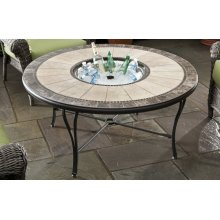 """Revello 48"""" round fire pit table top w/o center disc"""