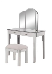 """Vanity Table 42 in. x 18 in. x 31 in. and Mirror 32 in. x 24 in. and Chair 18 in. x 14 in. x 18 in."""""""""""""""