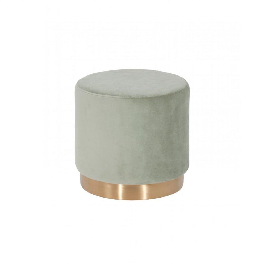 Modrest Santee Modern Grey Velvet & Gold Stool