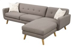 Sofa/chaise Lsf Loveseat - Rsf Chaise Brown W/ 2 Pillows Product Image