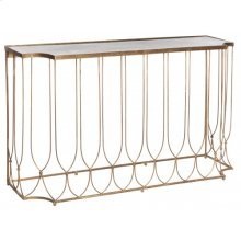 Wishbone Console Table with Antique Mirror