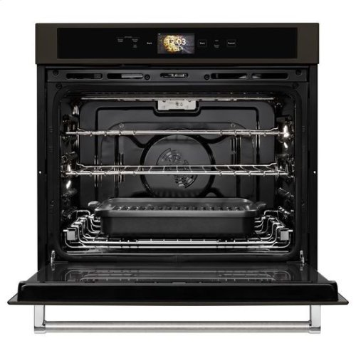 """KitchenAid® Smart Oven+ 30"""" Single Oven with Powered Attachments and PrintShield™ Finish - Black Stainless"""