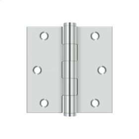 """3""""x 3"""" Square Hinge - Polished Stainless"""