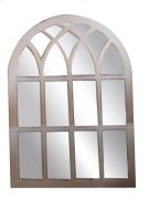 Mirror with Wood Grate (29.53X1X42.13) Product Image