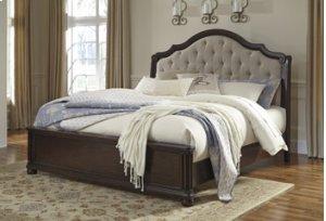 B596  Moluxy - Dark Brown Bedroom Suite