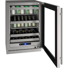 "5 Class 24"" Beverage Center With Stainless Frame (with Lock) Finish and Right-hand Hinged Door Swing (115 Volts / 60 Hz)"