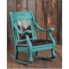 Cowgirl Spirit Turquoise Rocking Chair