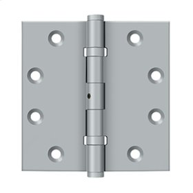 "4 1/2""x 4 1/2"" Square Hinges, Ball Bearings - Brushed Chrome"