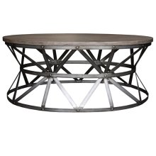 Coffee Table, Available in Silver Iron Finish Only