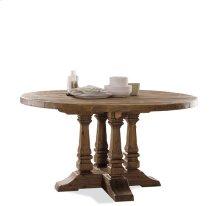 Hawthorne Round Dining Table Barnwood finish
