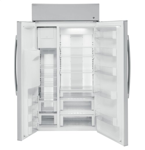 """GE Profile™ Series 48"""" Built-In Side-by-Side Refrigerator with Dispenser"""