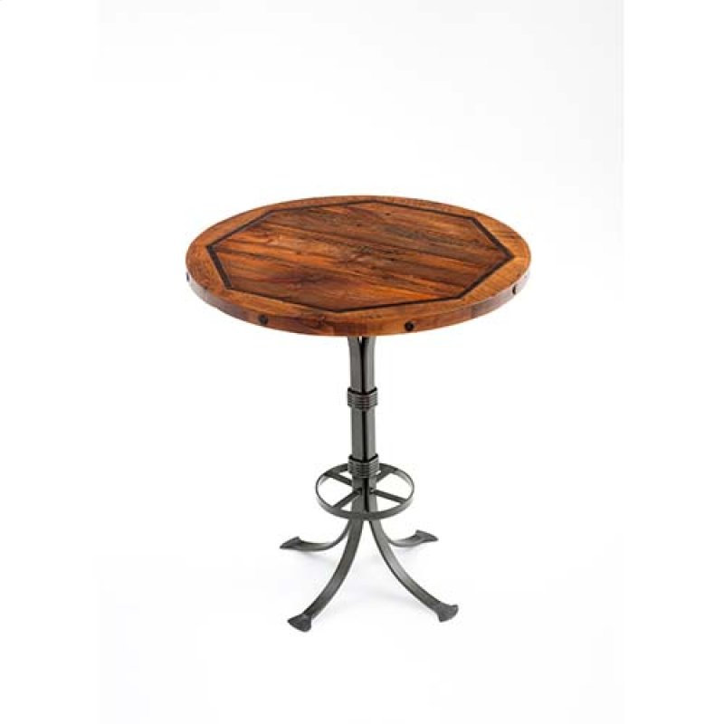 Red River Deadwood Bar Table 30 36 And 42 Inch Round Standard Hidden