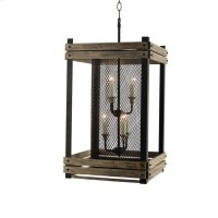 6-Light Hand Painted Farmhouse Cage Lantern in Rus Product Image