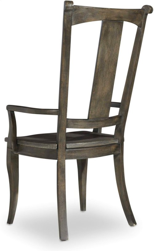 Vintage West Splatback Arm Chair