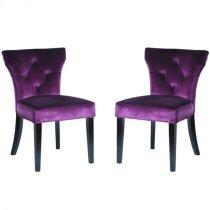 Elise Side Chair in Purple Velvet (Set Of 2) Product Image