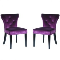 Elise Side Chair in Purple Velvet (Set Of 2) Product Image