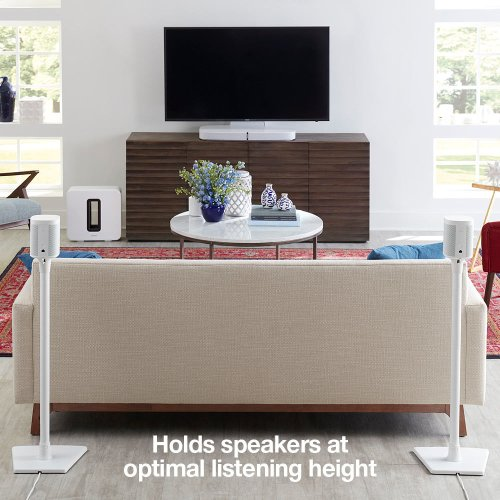 White- Place your compact speakers right where you need them. Robust, heavy-duty design.