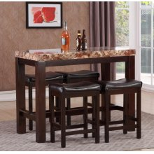 3PC FAUX MARBLE COUNTER HEIGHT SET