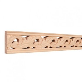 "3-1/8""x1""x96"" Hand Carved Moulding. Species: Basswood. Priced by the linear foot and sold in 8' sticks in cartons of 80'."