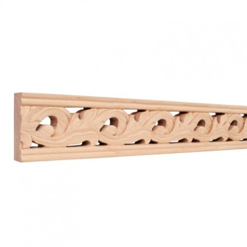 """3-1/8""""x1""""x96"""" Hand Carved Moulding. Species: Basswood. Priced by the linear foot and sold in 8' sticks in cartons of 80'."""