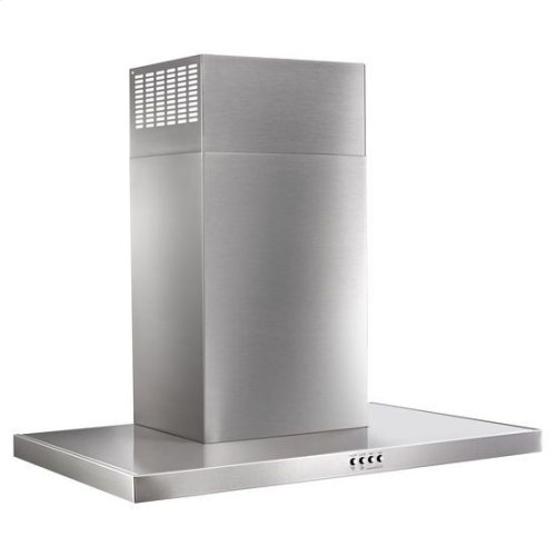 "30"" Stainless Steel Wall Mount Flat Range Hood - stainless steel"