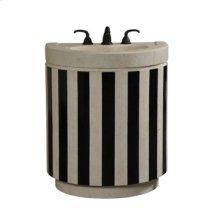 Striped Sink Chest