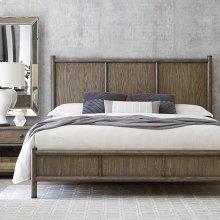 Queen/Burley Brown Peninsula Panel Bed