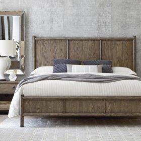 King/Burley Brown Peninsula Panel Bed