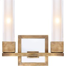 Visual Comfort S2155HAB-CG Ian K. Fowler Kendal 2 Light 9 inch Hand-Rubbed Antique Brass Decorative Wall Light