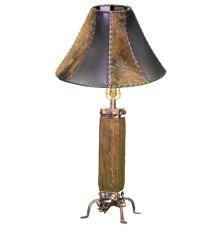 Dark Wood & Iron Lamp