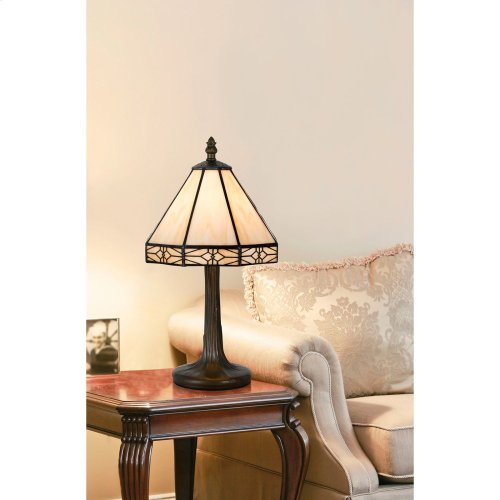 40W Tiffany Ac LP W/Zinc Cast Base