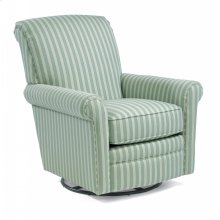 Plaza Fabric Swivel Glider without Nailhead Trim