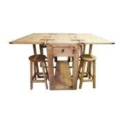 Drop Leaf Island W/stools Product Image