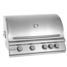 Blaze 32 Inch 4-Burner Grill With Rear Burner, With Fuel type - Propane