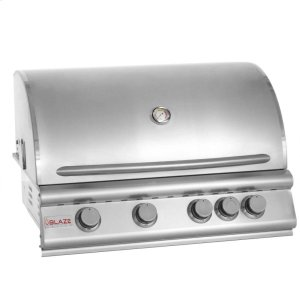BLAZE GRILLSBlaze 32 Inch 4-Burner Grill With Rear Burner, With Fuel Type - Natural Gas