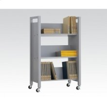 Gray Bookshelf Cart