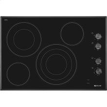 "Black Floating Glass 30"" Electric Radiant Cooktop, Black"