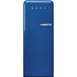 Smeg50'S Style Refrigerator with ice compartment, Blue, Left hand hinge