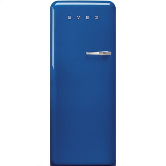 """Approx 24 """" 50'S Style Refrigerator with ice compartment, Blue, Left hand hinge"""