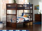Columbia Bunk Bed Twin over Twin in Walnut Product Image