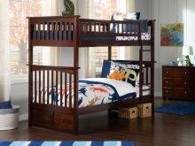 Columbia Bunk Bed Twin over Twin in Walnut