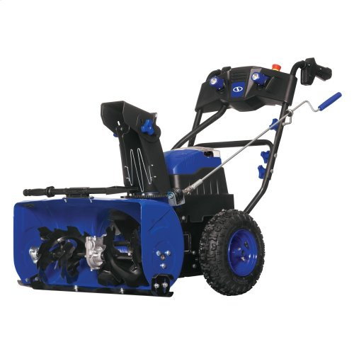Snow Joe iON24SB-XRP Cordless Two Stage Snow Blower  24-Inch  80 Volt  2 x 6 Ah Batteries  3-Speed