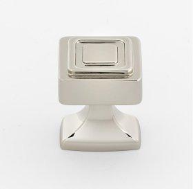 Cube Knob A985-14 - Polished Nickel