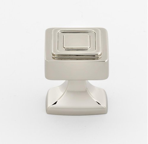 Cube Knob A985-14 - Polished Nickel